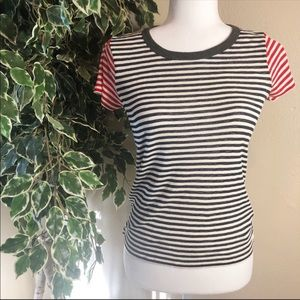 Madewell Red/Blue Striped Top Size S